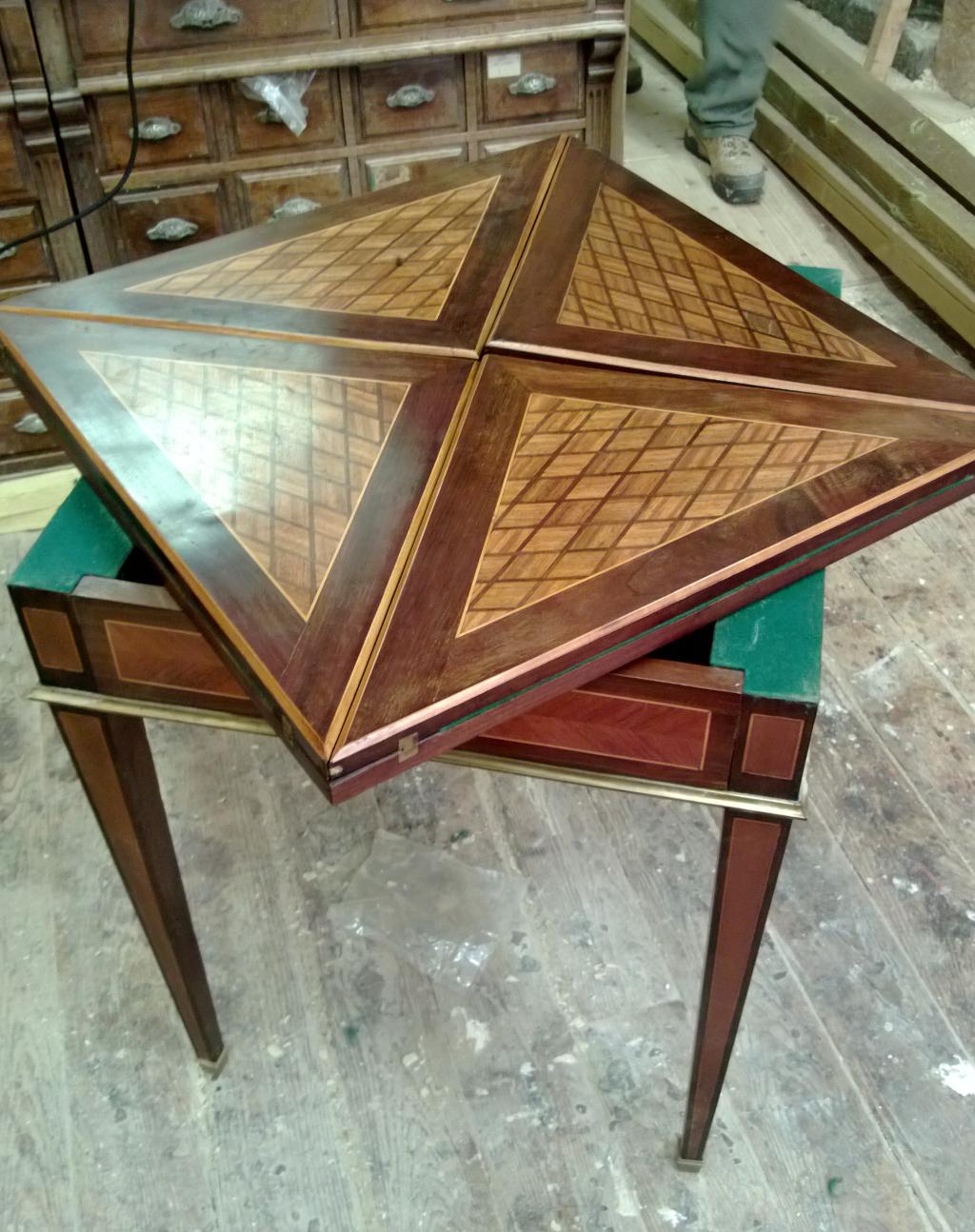 Ebenisterie resonancebois - Restauration d une table en bois ...